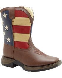 Durango Kid's Flag Western Boots, , hi-res