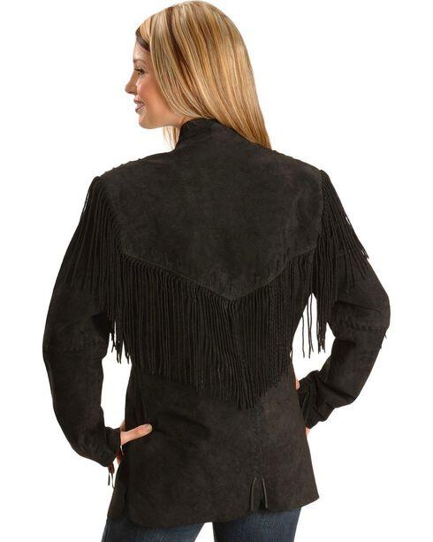 Scully Women's Fringe Jacket, Black, hi-res