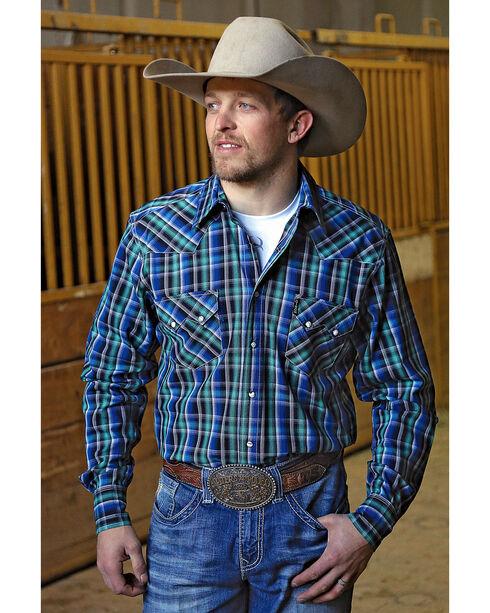 Cinch Men's Modern Fit Plaid Plain Weave Western Snap Shirt, Multi, hi-res