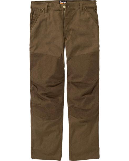 Timberland Pro Men's GridFlex Canvas Work Pants, Brown, hi-res
