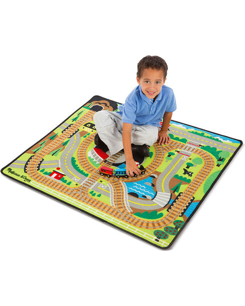 Melissa & Doug Kids' Round the Rails Train Rug , No Color, hi-res
