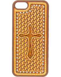Nocona Basketweave Hair-On Cross iPhone 5 and 5S Case, , hi-res