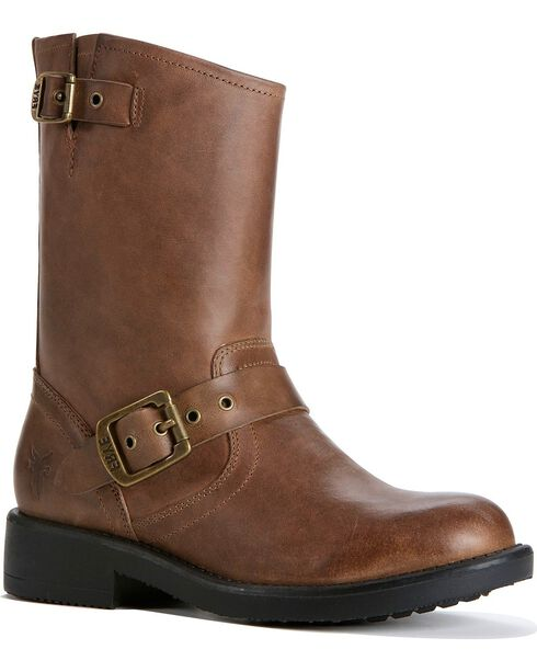 Frye Girls' Engineer Pull-on Boots, Gaucho, hi-res