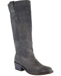 Corral Women's Cut Out Tall Top Boots - Round Toe, , hi-res