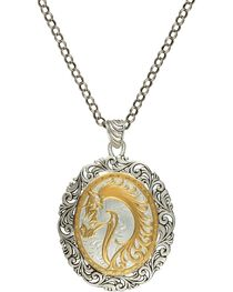 Montana Silversmiths Women's Portrait of a Cowgirl's Love Necklace, , hi-res