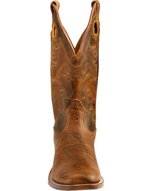 "Boulet Men's 13"" Wide Square Toe Stockman Boots, Crazyhorse, hi-res"