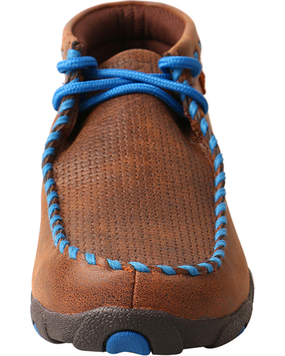 Twisted X Women's Stitched Driving Mocs, Brown, hi-res