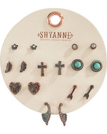Shyanne Women's Copper Patina Multi Earring Set, , hi-res