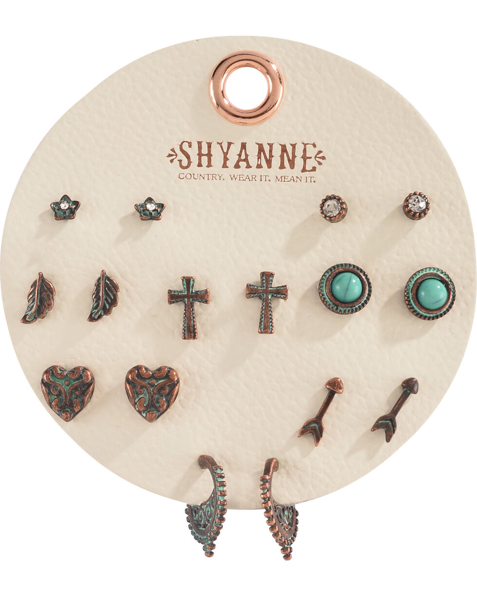 Shyanne Women's Copper Patina Multi Earring Set, Turquoise, hi-res