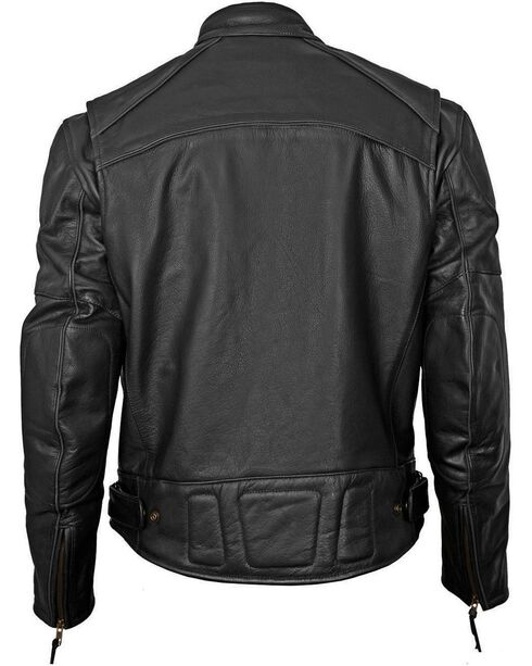 Milwaukee Motorcycle Scooter Leather Jacket - XL, Black, hi-res
