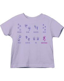 Browning Toddler Girls' Lavender Baby Tracks Short Sleeve Tee , , hi-res