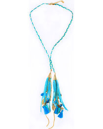Sincerely Mary Women's Rhae Braided Tassel Necklace, , hi-res