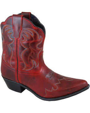 Smoky Mountain Women's Red Juniper Western Boots - Snip Toe , Red, hi-res