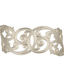Montana Silversmiths Western Lace Scallop Cuff Bracelet, , hi-res