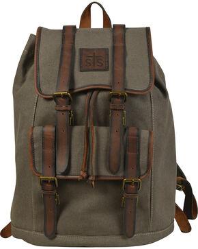 STS Ranchwear Foreman Dark Canvas Backpack, Olive, hi-res
