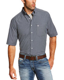Ariat Men's Check Patterned Short Sleeve Shirt, , hi-res