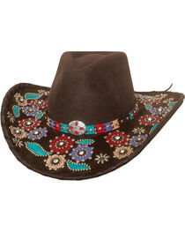 Bullhide Women's Country Love Song Wool Hat , , hi-res