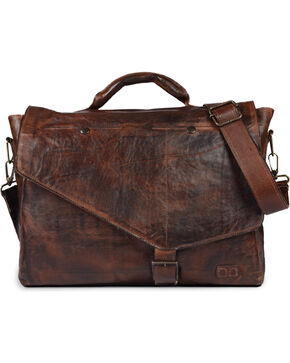 Bed Stu Men's Paulo Teak Rustic Messenger Bag, Dark Brown, hi-res
