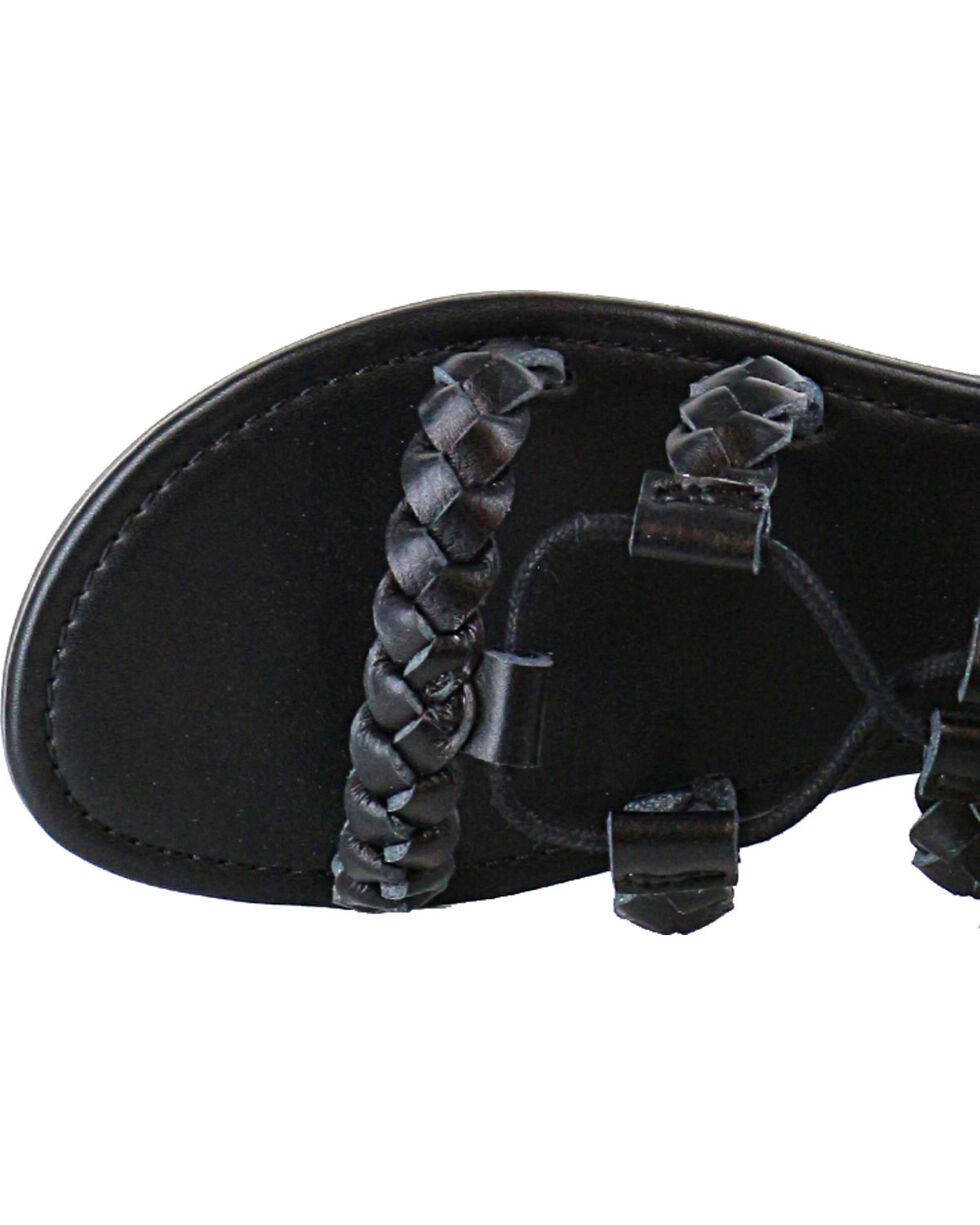 Shyanne® Women's Tassel Lace-Up Sandals, Black, hi-res