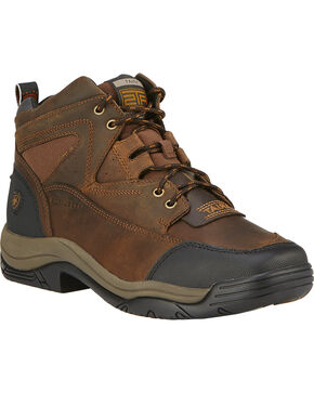 Ariat Men's Terrain Wide Square Steel Toe Endurance Boots, Brown, hi-res