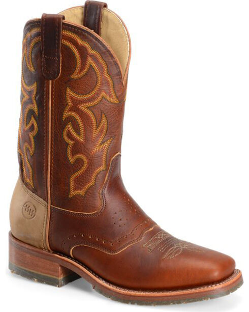 Double-H Boots Men's Snakebite Saddlevamp Western Boots, Brown, hi-res