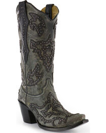 Corral Women's Overlay and Stud Western Boots, , hi-res