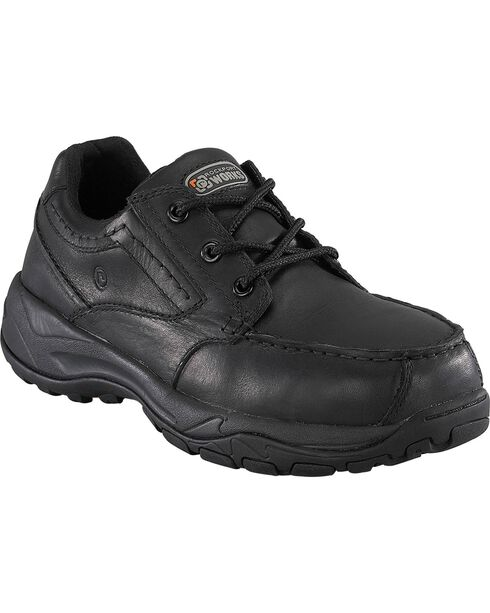 Rockport Works Extreme Light Casual 3-Eye Oxford Work Shoes - Composition Toe, Black, hi-res