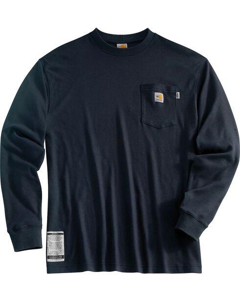 Carhartt Men's Flame-Resistant Work Shirts, Navy, hi-res