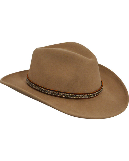 Wind River by Bailey Men's Nock Putty Western Hat, Putty, hi-res