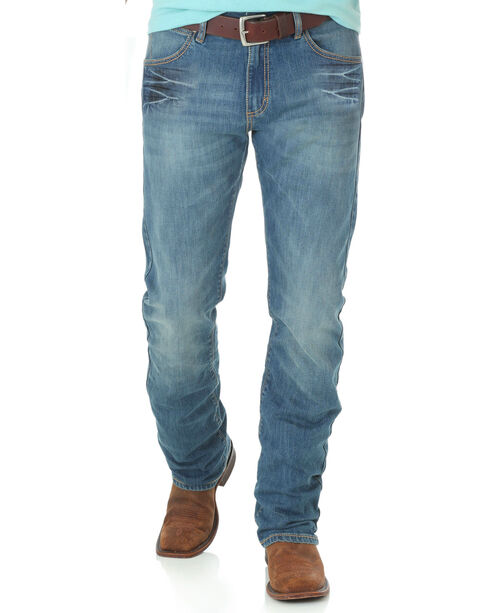 Wrangler Retro Men's Huntsville Slim Fit Straight Leg Jeans, Blue, hi-res