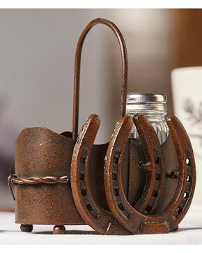 Gift Craft Napkin Salt and Pepper Shaker Holder, Brown, hi-res