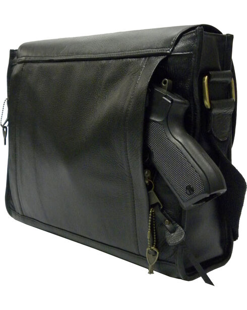 Designer Concealed Carry iBag Messenger Bag, Black, hi-res