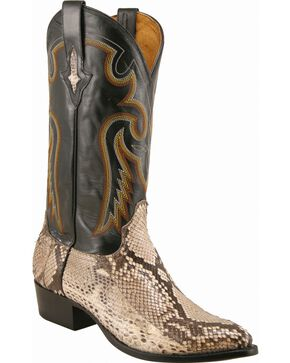 Lucchese Men's Exotic Python Western Boots, Natural, hi-res