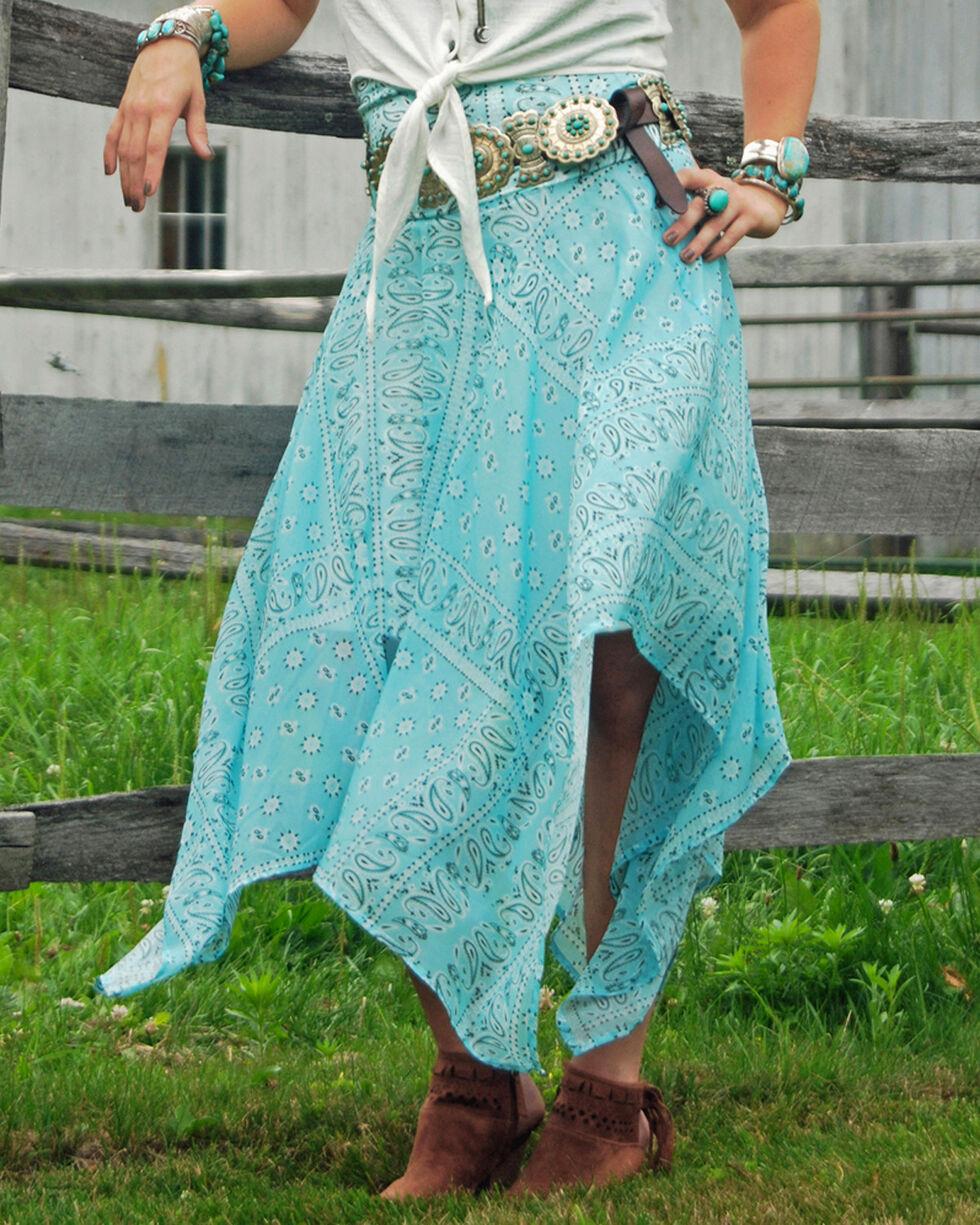 Tasha Polizzi Women's Blue Handkerchief Skirt, Blue, hi-res