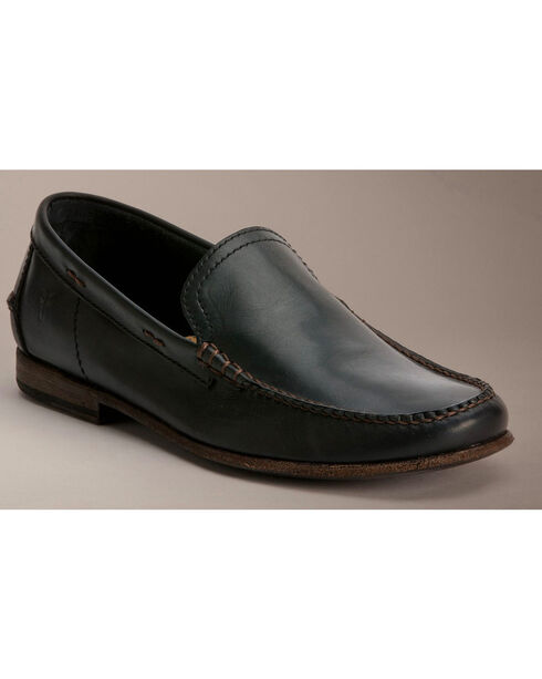 Frye Lewis Leather Venetian Loafers, Black, hi-res