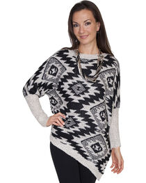 Scully Women's Asymmetrical Aztec Sweater, , hi-res