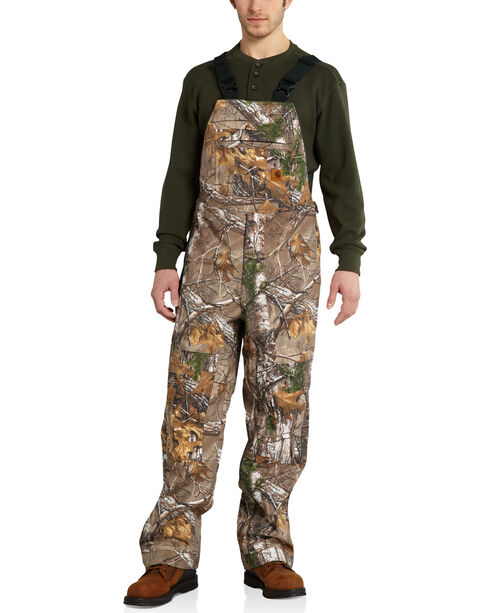 Carhartt Men's Camo Shoreline Bib Overalls - Big & Tall, Camouflage, hi-res