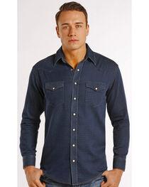 Rough Stock by Panhandle Men's Navy Vintage Long Sleeve Shirt, , hi-res