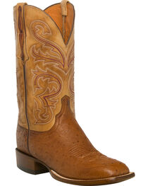 Lucchese Men's Lance Smooth Ostrich Horseman Boots - Square Toe, , hi-res