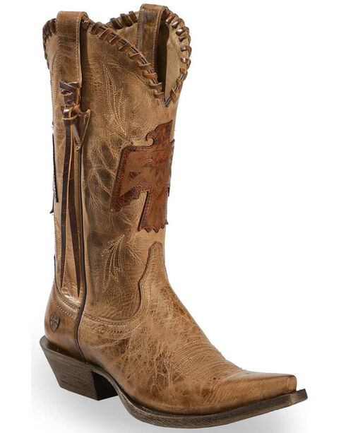 Ariat Women's Tan Thunderbird Overlay Cowgirl Boots - Snip Toe, Tan, hi-res
