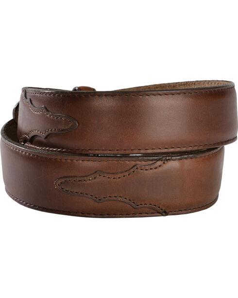 Silver Creek Men's Classics Oiled Brown Western Belt, Brown, hi-res