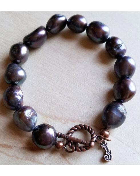 Jewelry Junkie Women's Gray Freshwater Pearl Bracelet , Grey, hi-res