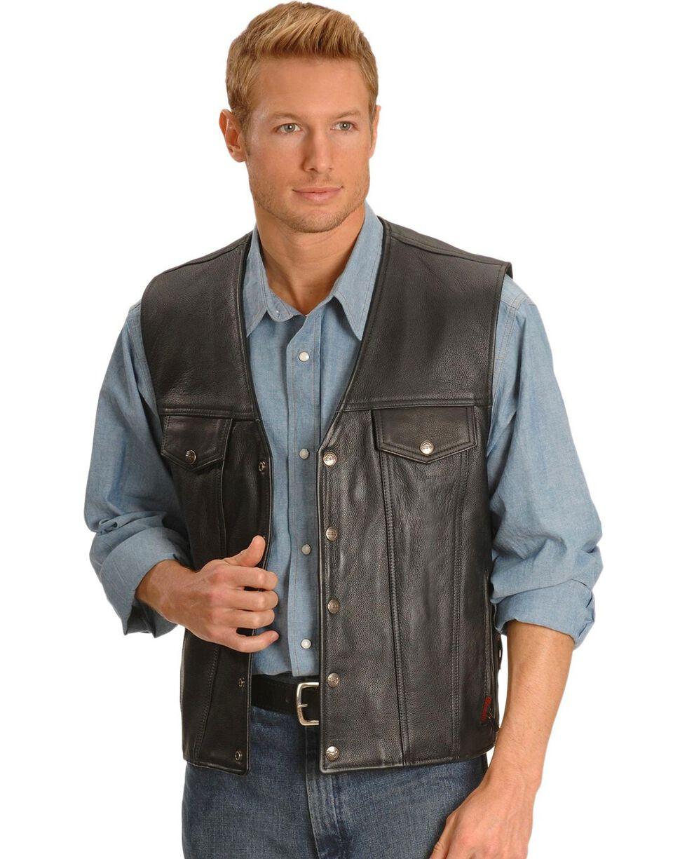 Milwaukee Men's Gambler Leather Motorcycle Vest, , hi-res