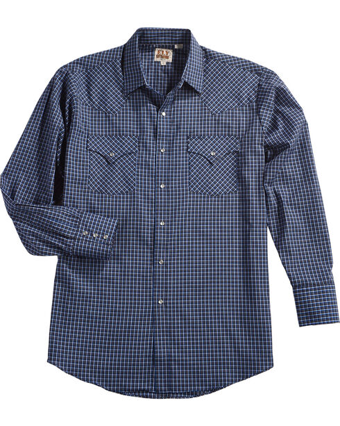 Ely Cattleman Men's Assorted Mini Check Long Sleeve Snap Shirt, Multi, hi-res