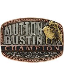Montana Silversmiths Kids' Little Attitude Mutton Bustin Champion Belt Buckle, , hi-res