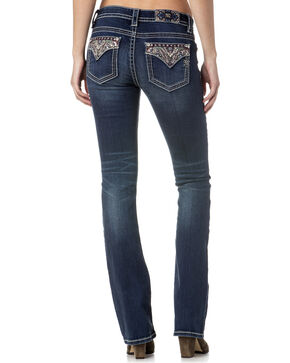 Miss Me Women's Indigo Embellished Pocket Jeans - Boot Cut , Indigo, hi-res