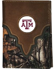 Texas A&M Camo Concho Tri-fold Wallet, , hi-res