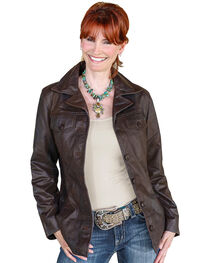 STS Ranchwear Women's Selah Brown Leather Jacket, , hi-res