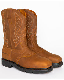 Cody James® Men's Broad Square Composite Toe Western Work Boots, , hi-res