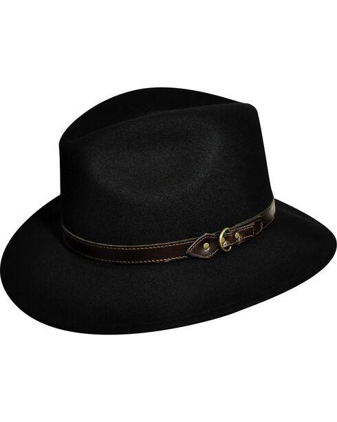 Country Gentleman Men's Black Dunmore Fedora , Black, hi-res